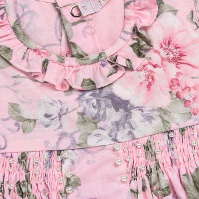 Imagem 2 do produto Macacão curto para bebe em tricoline Floral Deluxe - Roana - PIML0898046 PIMPAO LUXO ROSA -P