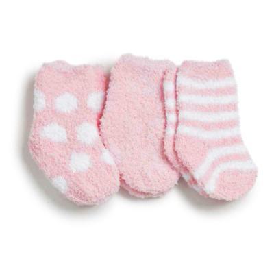 Imagem 1 do produto Kit com 3 meias soquete para recém nascido Soft Rosa - Puket - PK6980-R RN TRIPACK SOFT VARIANTE ROSA-5/8