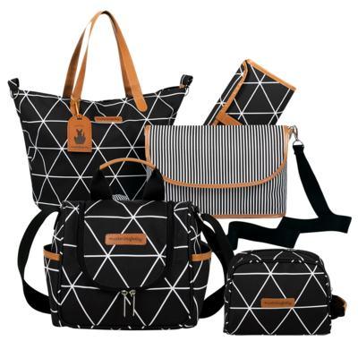 Imagem 1 do produto Bolsa 4 em 1 Sofia + Frasqueira térmica Emy + Necessaire Manhattan Preto - Masterbag