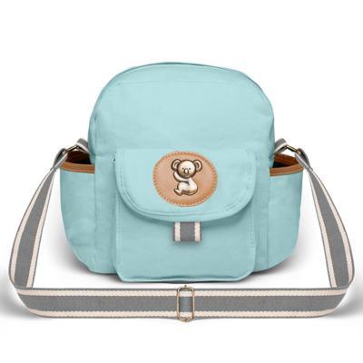 Imagem 4 do produto Bolsa Passeio para bebe + Bolsa Ibiza + Frasqueira Térmica Toulon + Trocador Portátil + Porta Mamadeira sarja Adventure Azul - Classic for Baby Bags
