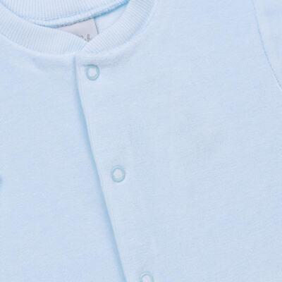 Imagem 2 do produto Macacão longo para bebe em plush Azul - Tilly Baby - TB13172.09 MACACAO BASICO DE PLUSH AZUL BEBE-P