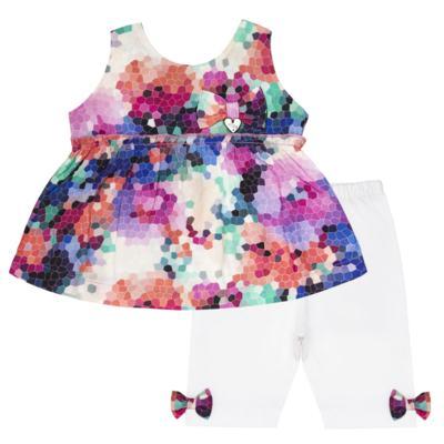Imagem 1 do produto Bata c/ Legging para bebe em cotton Colorê - Tilly Baby - TB166200 CONJ FEM MOSAICO COLORIDO -3