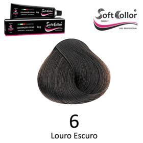 Coloracao Profissional SOFTCOLLOR PERFECT 60g - Cores: Louro Escuro - Nuance 6 Louro Escuro