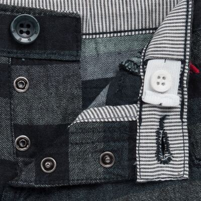 Imagem 3 do produto Bermuda para bebe Striped Jeans - Reserva Mini - AVESSO-M