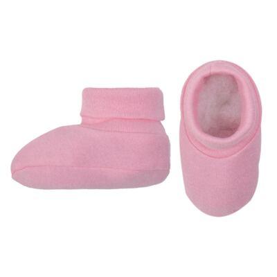 Imagem 2 do produto Kit Touca Luva e Sapatinho em suedine Baby Protect Rosa - Nano Protect