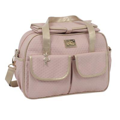 Imagem 2 do produto Bolsa maternidade para bebe + Frasqueira Térmica Nice Rosê - Just Baby