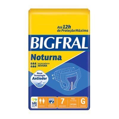 Fralda Geriátrica Bigfral Noturna Grande 7 Unidades