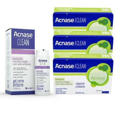 Imagem 3 do produto Kit Acnase 3 Sabonetes Esfoliante 80g + Clean Gel 50g