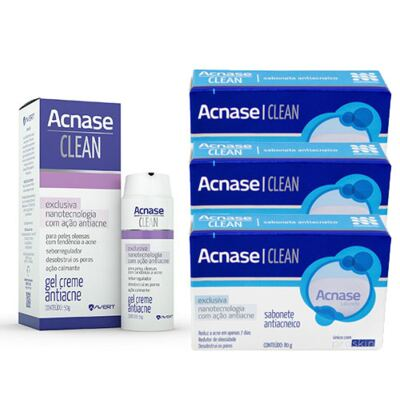 Imagem 3 do produto Kit Acnase 3 Sabonetes Antiacne 80g + Clean Gel 50g