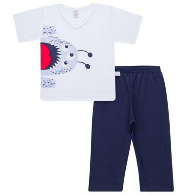 Pijama curto em malha Monstrinho - Cara de Sono