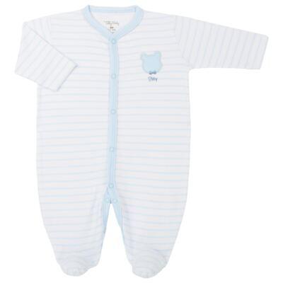 Imagem 1 do produto Macacão longo para bebe em suedine Ursinho - Tilly Baby - TB183700 MACACAO LONGO MASC URSO GRAVATA-P