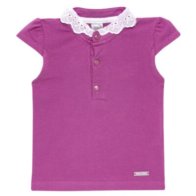 Blusinha para bebe em cotton Uva - Baby Classic - 21751699 BLUSINHA M/C GOLA COTTON PÁSSAROS-M