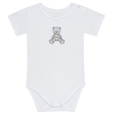 Imagem 1 do produto Body curto para bebe em Pima Cotton Supreme Prime Bear Branco - Mini & Kids - BDMC0001.64 BODY MANGA CURTA - SUEDINE-P