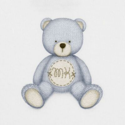 Imagem 2 do produto Body curto para bebe em Pima Cotton Supreme Prime Bear Branco - Mini & Kids - BDMC0001.64 BODY MANGA CURTA - SUEDINE-P
