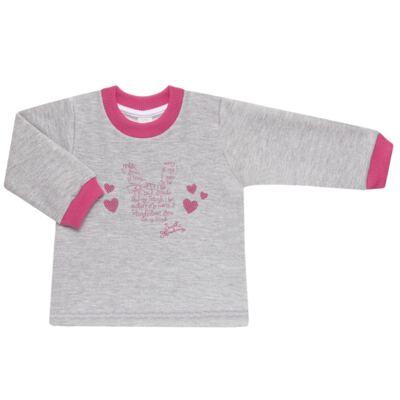 Imagem 2 do produto Blusão com Calça para bebe em moletom Corações Poá Mescla - Mini Mix - LTCM01 CONJUNTO MOLETOM CORAÇÃO POÁ PINK/MESCLA-1