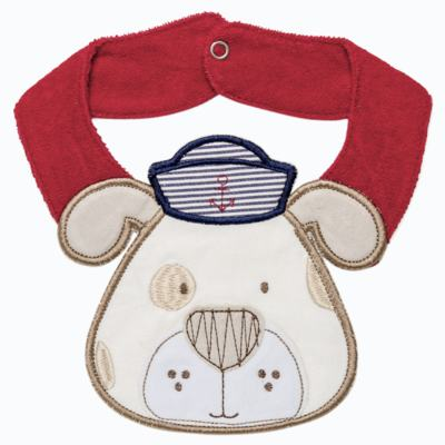 Babador para bebe atoalhado faces Sailor Dog - Classic for Baby