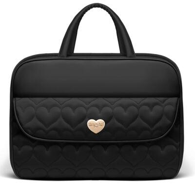 Imagem 1 do produto Mala maternidade para bebe Corações Matelassê Preta - Classic for Baby Bags