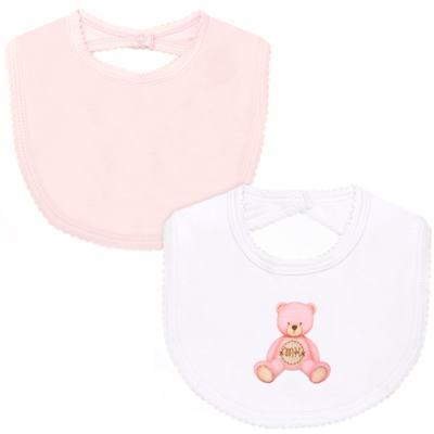 Pack: 2 babadores em Pima Cotton Supreme Prime Bear Rosa - Mini & Kids