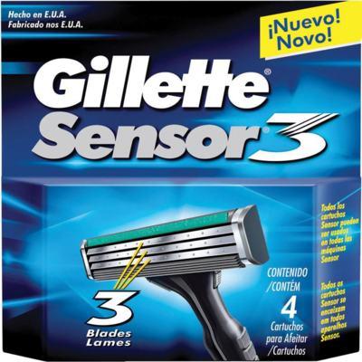 Imagem 1 do produto Carga Gillette Sensor 3 - 4 Unidades