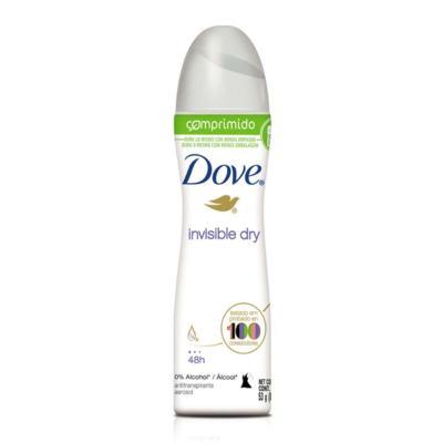 Desodorante Dove Comprimido Aerosol Invisible Dry 53g