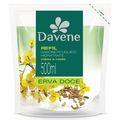 Sabonete Líquido Davene Erva Doce Refil 500ml