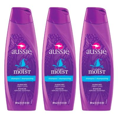 Kit 3 Shampoo Aussie Moist 400ml