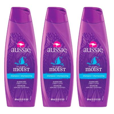 Imagem 1 do produto Kit 3 Shampoo Aussie Moist 400ml