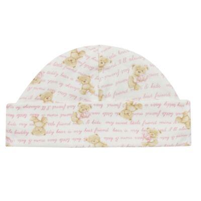 Imagem 2 do produto Kit c/ Touca, Luva e Sapatinho em algodão egípcio c/ jato de cerâmica e filtro solar fps 50 Maternity Pink Bear - Mini & Kids