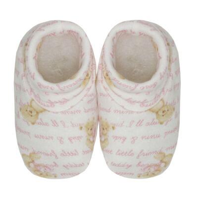 Imagem 4 do produto Kit c/ Touca, Luva e Sapatinho em algodão egípcio c/ jato de cerâmica e filtro solar fps 50 Maternity Pink Bear - Mini & Kids