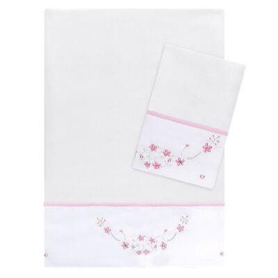 Imagem 1 do produto Kit Amamentação: 1 paninho de ombro + 1 paninho de boca para bebe em fralda Flowers - Roana
