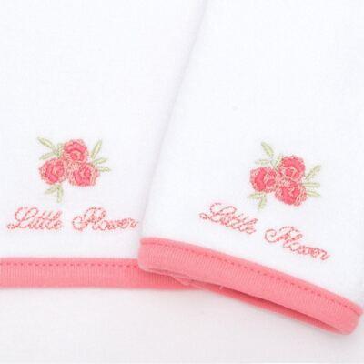Imagem 2 do produto Kit com 2 fraldas de boca atoalhadas Little Roses - Classic for Baby
