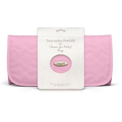 Imagem 1 do produto Trocador Portátil para bebe Laços Matelassê Rosa - Classic for Baby Bags
