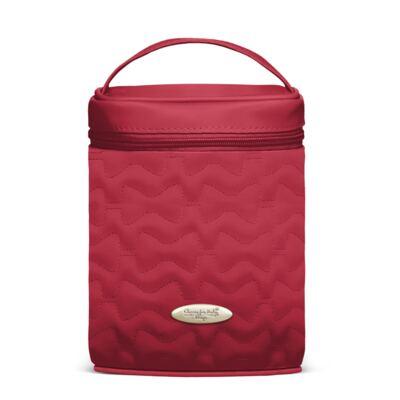 Imagem 1 do produto Bolsa Térmica para bebe Firenze Laços Matelassê Cereja - Classic for Baby Bags