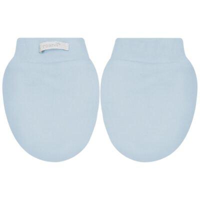 Imagem 3 do produto Kit Touca e Luva para bebê em malha Azul - Roana
