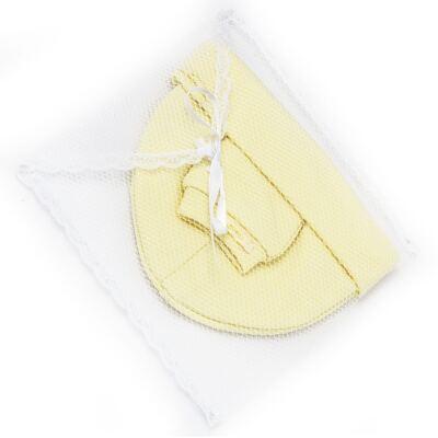 Imagem 4 do produto Kit Touca e Luva para bebe em malha Amarela - Roana