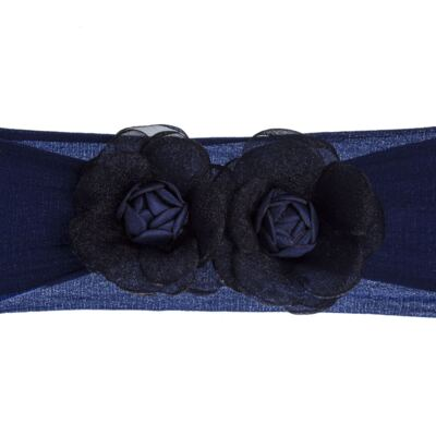 Imagem 1 do produto Faixa meia Flores Marinho - Roana