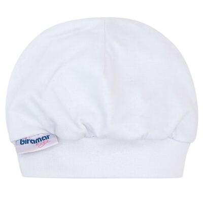 Touca para bebe Branco - Biramar Baby