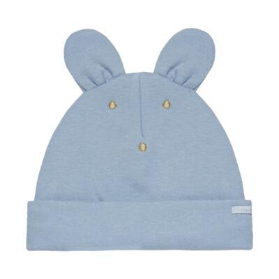 Imagem 2 do produto Kit Bichinho: Touca + Par de Luvas para bebê em suedine Azul - Roana