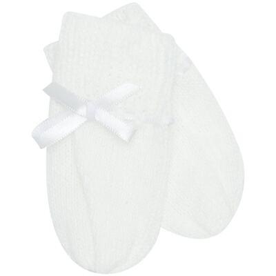 Imagem 3 do produto Kit Gorro e Luva em tricot Branco - Roana