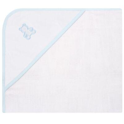 Imagem 1 do produto Toalha Fralda com Capuz Urso Azul - Classic for Baby
