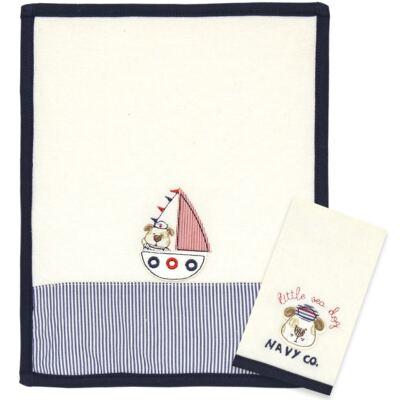 Imagem 1 do produto Kit com 2 fraldas de boca atoalhadas Sailor Dog - Classic for Baby