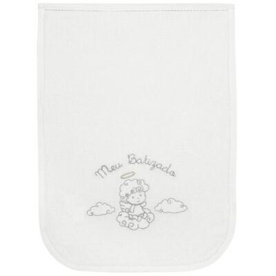 Imagem 1 do produto Toalha para bebe batizado Branca - Classic for Baby