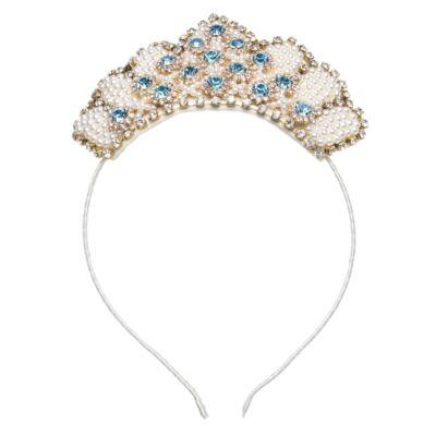 Imagem 1 do produto Tiara Coroa Pedrarias Pérolas & Strass - Roana