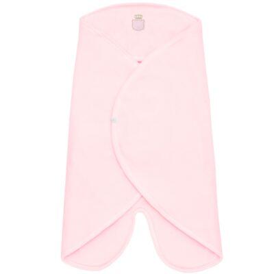 Imagem 1 do produto Cobertor de vestir em microsoft Royalty Bear Rosa - Classic For Baby