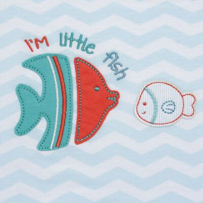 Imagem 2 do produto Jogo de lençol para berço em malha Cute Fish - Classic for Baby