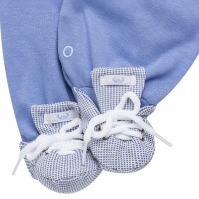 Imagem 5 do produto Jogo Maternidade com Macacão, Casaco e Manta em suedine Hector - Beth Bebê