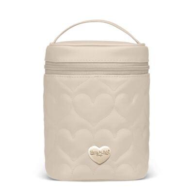 Imagem 1 do produto Bolsa Térmica para bebe Firenze Corações Matelassê Caqui - Classic for Baby Bags