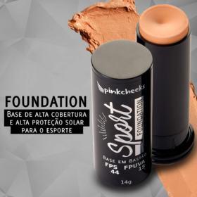 Base em Bastão Pink Cheeks - Sport Make Up Foundation - Café