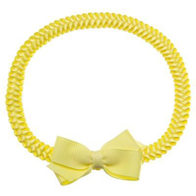 Faixa de cabelo trançada Laço Amarelo - Roana