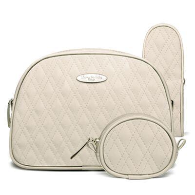 Kit Acessórios para bebe: 01 Necessaire + 01 Porta Chupeta + 01 Porta Mamadeira  Golden Koala Caqui - Classic for Baby Bags